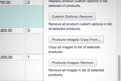 Remove product images mass action