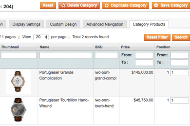 Show Product Images in Magento Categories Manager
